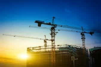 Construcción de la central eléctrica
