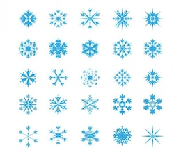 Copo de nieve icon set
