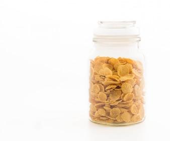 Copos de maíz en botella