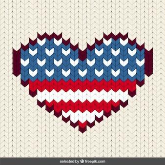 Corazón cosido Estados Unidos