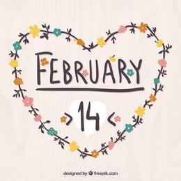 Corazón de 14 de febrero