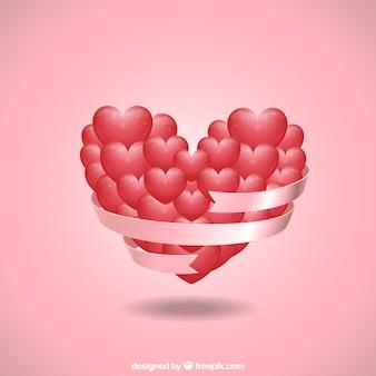 Corazón hecho de pequeños corazones