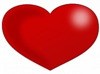 corazón rojo brillante día de San Valentín