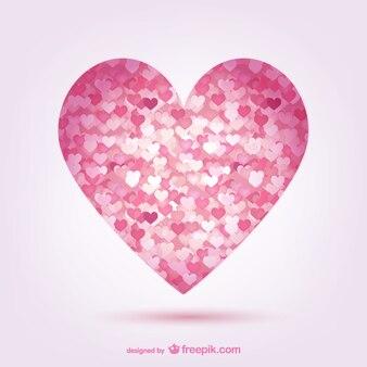 Corazones de color rosa