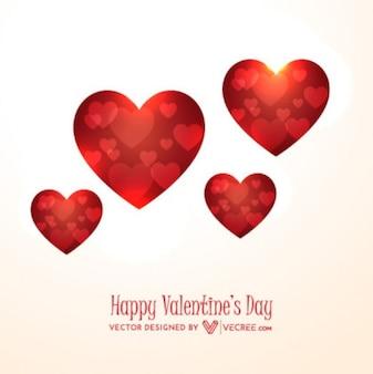 Corazones dentro de corazones para San Valentín