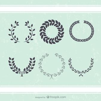 Corona antigua deja vectores decoración