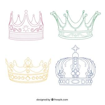 Coronas esbozadas