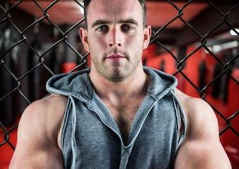 Cortar bíceps ocio gris moderno