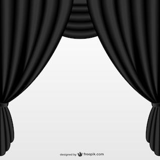 Cortina negra sencilla