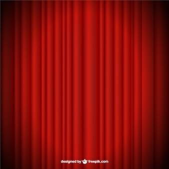 cortina roja de vectores de fondo