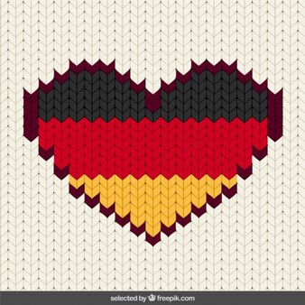 Cosido Alemania corazón