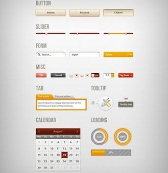creativa interfaz de usuario web kit psd