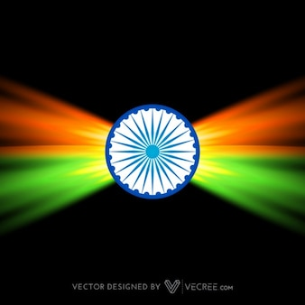 Creativo bandera india oscuro