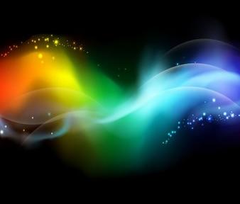 creativo dinámico diseño colorido vector de fondo abstracto
