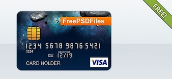 Crédito libre PSD tarjeta de visita