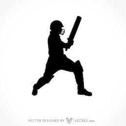 Cricket bateador Silueta