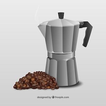 Crisol del café los granos de café del anf