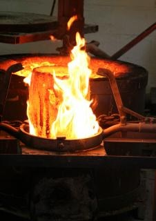 Crisol en el fuego