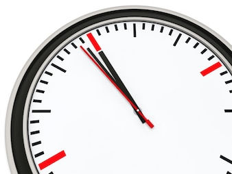 Cronómetro apuntando casi a las 12