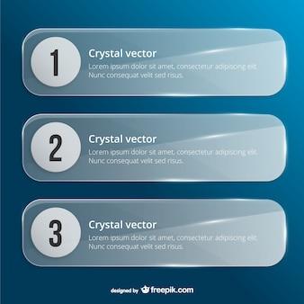 Plantillas de banner de Cristal