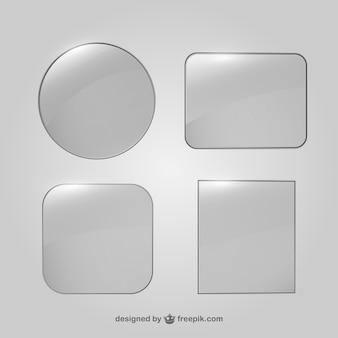 Colección de marcos de cristal