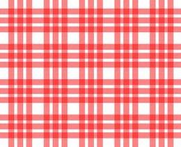cuadrados mantel rojo y blanco patrón