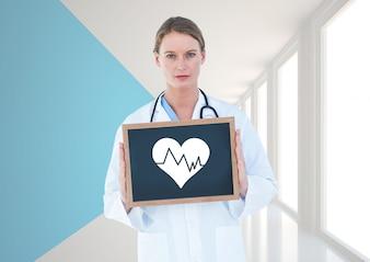 Cuidado de la salud ocupación uniforme mujer tendida