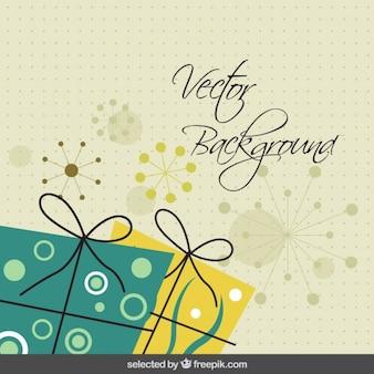 Cumpleaños fondo abstracto con regalos