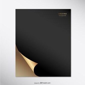 Página dorada y negra