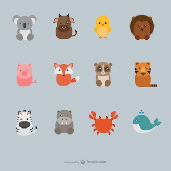 Collección de animales lindos