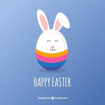 Tarjeta linda del conejo de Pascua