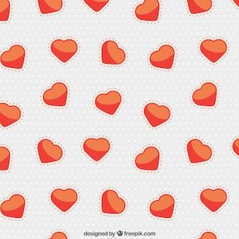 Patrón con corazones