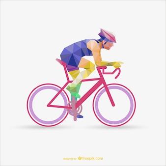 Vector ciclista poligonal