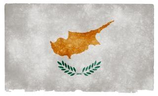Cyprus grunge bandera