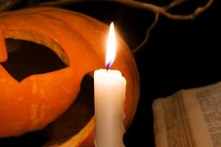 De calabaza y una vela
