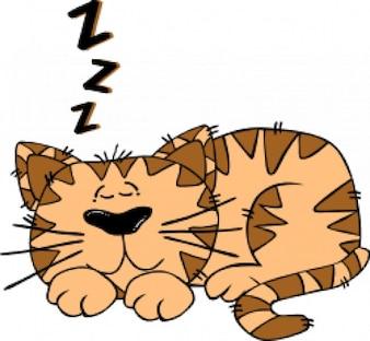 de dibujos animados del gato durmiendo