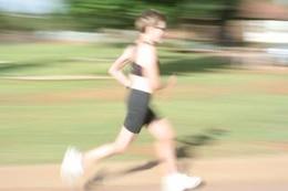 de la mujer atleta corriendo, la raza
