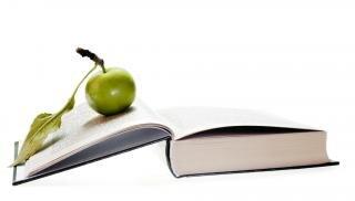 de manzana en el libro de
