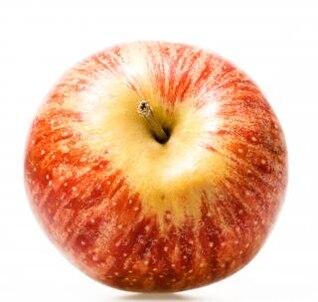 de manzana sobre fondo blanco