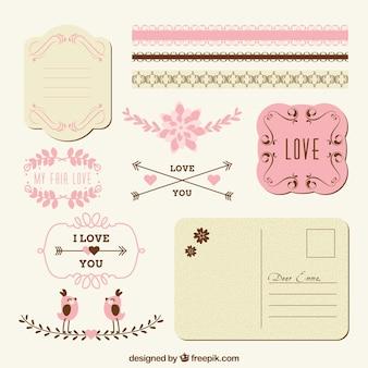 Decoración de amor para correo