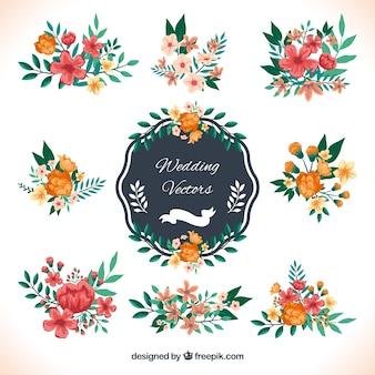 Decoración de boda en estilo floral