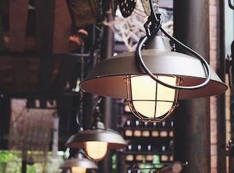 Decoración de la lámpara de la iluminación del vintage con efecto retro del filtro