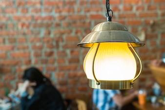 Decoración de la lámpara vintage