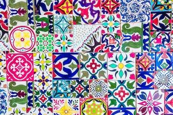 Decoración de mosaicos mezquita árabe de la ciudad