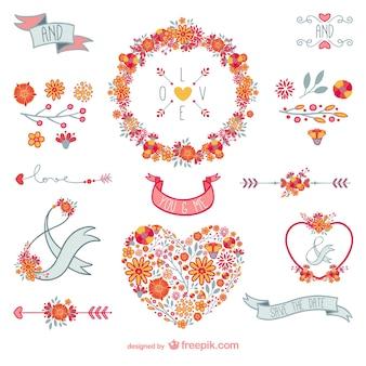 Decoración floral de amor