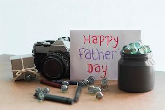 Decoración para el día del padre con elementos vintage