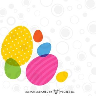 Decorado de fondo elegante del huevo de Pascua
