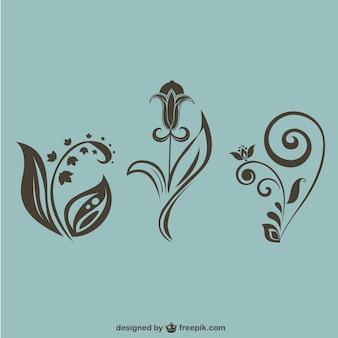 Vectores decorativos florales