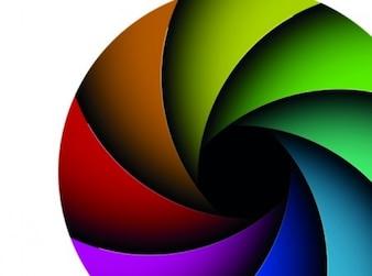 Decorativo colorido geometría conjunto de vectores de diafragma