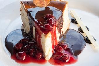 Deliciosa porción de tarta
